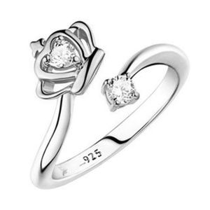 Cute4less2012 Jewelry - Sterling Silver Plated Adjustable Crown Ring